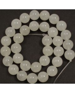 White Jade 12mm Round Beads