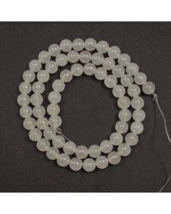 White Jade 6mm Round Beads