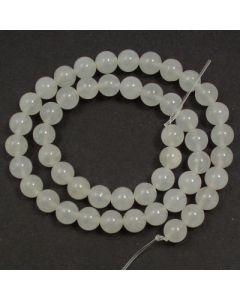 White Jade 8mm Round Beads