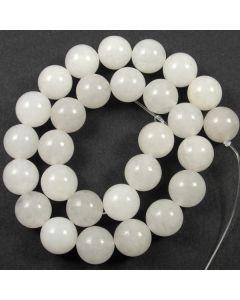 White Jade 14mm Round Beads