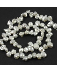 Natural Keshi Pearls - White 7-9x2-4mm