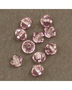 Swarovski® 4mm Light Amethyst Bicone Xilion Cut Beads (Pack of 10)