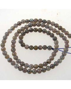 Labradorite 4mm  Round Beads