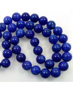 Mashan Jade (Dyed Lapis Marble) 10mm Round Beads