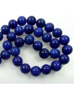 Mashan Jade (Dyed Lapis Marble) 12mm Round Beads