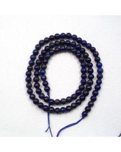 Lapis Lazuli 3.8mm Round Beads - SHORT STRAND