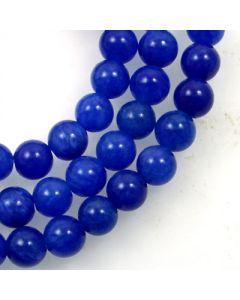 Mashan Jade (Dyed Lapis Marble) 4mm Round Beads