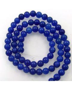 Mashan Jade (Dyed Lapis Marble) 6mm Round Beads