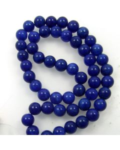 Mashan Jade (Dyed Lapis Marble) 8mm Round Beads