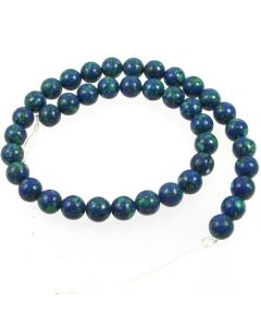 Lapis with Malachite 10mm Round Beads