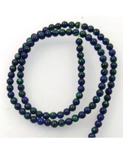 Lapis with Malachite 4mm Round Beads