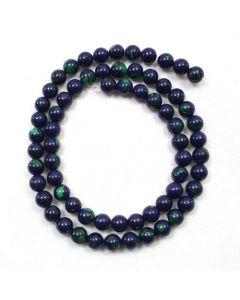 Lapis with Malachite 6mm Round Beads