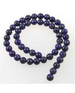Lapis Lazuli Natural 8mm Round Beads