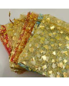 Large pattern organza bags