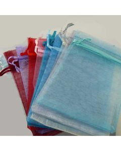 Organza Bags - Large White (Pack of Ten)