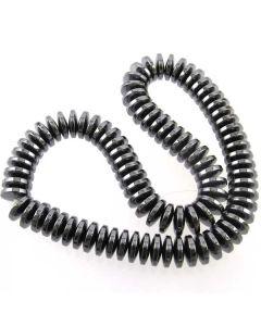Hematite 3x12mm Rondelle Beads