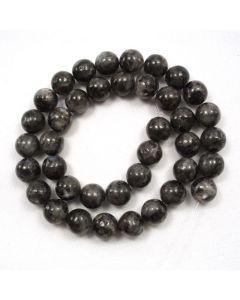 Larvikite 10-10.5mm Round Beads