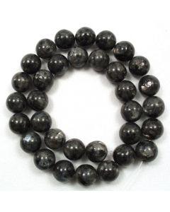 Larvikite 12-12.5mm Round Beads