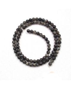 Larvikite 4-4.5mm Round Beads