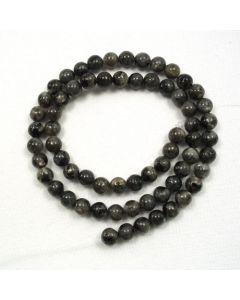 Larvikite 6-6.5mm Round Beads
