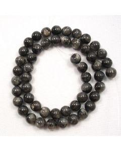Larvikite 8.5mm Round Beads