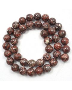 Leopardskin Jasper 9.5-10mm Round Beads