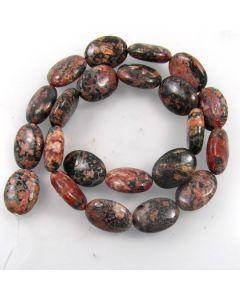 Leopardskin Jasper 13x18mm Oval Beads