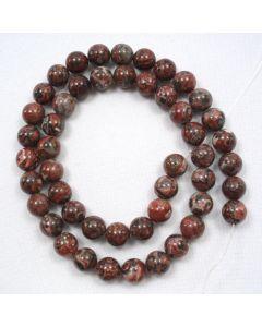 Leopardskin Jasper 8mm Round Beads