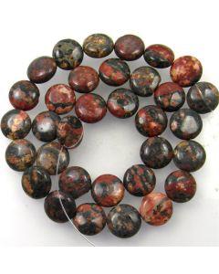 Leopardskin Jasper 12mm Coin Beads