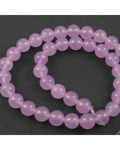 Malay Jade (Dyed Light Orchid Quartzite) 10mm Round Beads