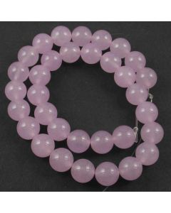 Malay Jade (Dyed Pale Orchid Quartzite) 12mm Round Beads