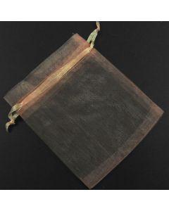 Organza Bags - Plain Light Peach 9x12cm approx. (Pack of Ten)