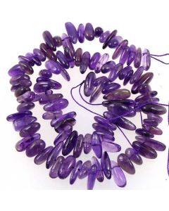 Amethyst 6x16mm (approx) long Chip Beads