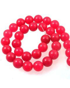 Malay Jade (Dyed Magenta Quartzite) 12mm Round Beads