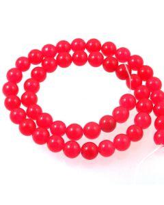 Malay Jade (Dyed Magenta Quartzite) 8mm Round Beads