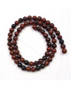 Mahogany Obsidian 6-6.5mm Round Beads