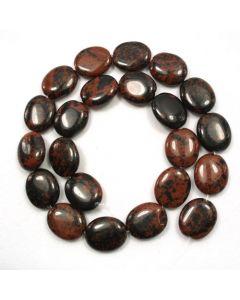 Mahogany Obsidian 15x18mm Oval Beads