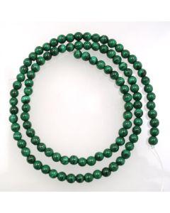 Malachite 4mm Round Beads