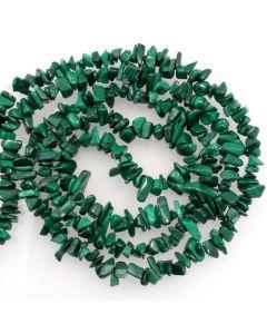 Malachite 5x8mm Chip Beads