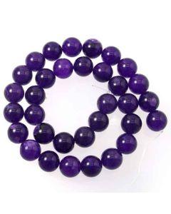 Malay Jade (Dyed Amethyst Quartzite) 12mm Round Beads