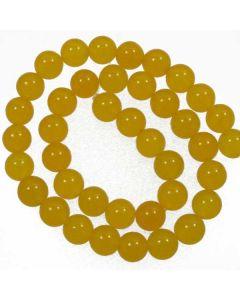 Malay Jade (Dyed Honey Yellow Quartzite) 10mm Round