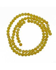 Malay Jade (Dyed Honey Yellow Quartzite) 4mm Round