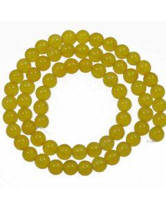 Malay Jade (Dyed Honey Yellow Quartzite) 6mm Round