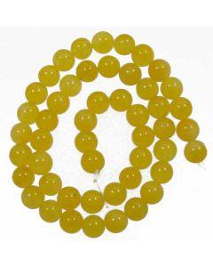 Malay Jade (Dyed Honey Yellow Quartzite) 8mm Round