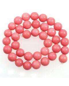 Malay Jade (Dyed Carnation Pink Quartzite) 10mm Round Beads