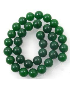 Malay Jade (Dyed Emerald Green Quartzite) 12mm Round Beads