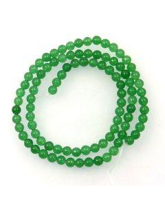 Malay Jade (Dyed Green Quartzite) 4mm Round Beads