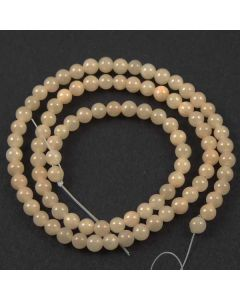 4mm Mashan Jade Peach Beads