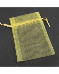 Organza Bags - Medium Plain Dark Lemon (Pack of Ten)