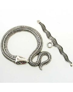Tibetan Large Snake Toggle Clasp 46x35mm (Pack 1) Silver Finish MT09